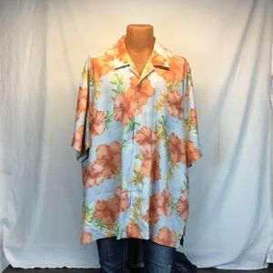 Tommy Bahama 100% Short Sleeve Button Shirt
